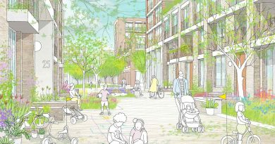The cartoon sketch is the first look at the regeneration plan for Aberfeldy Street